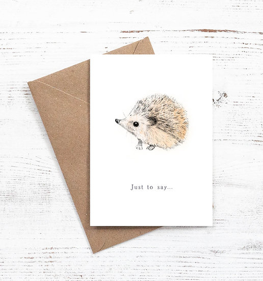 Just to say Hedgehog card
