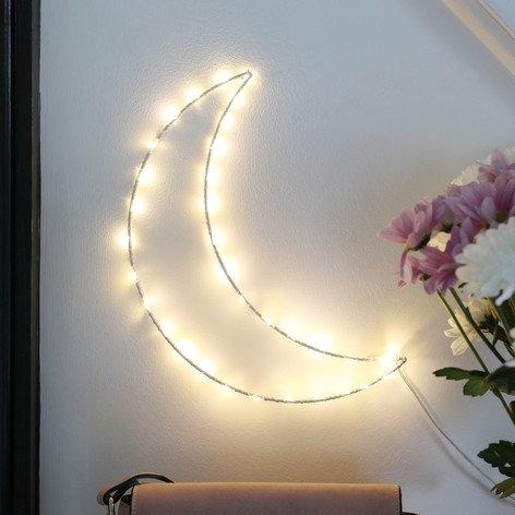 Crescent Moon light up wall art
