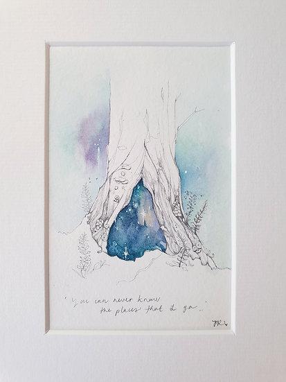 Secret tree portal