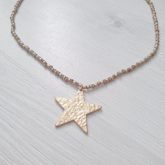 Wish upon a star, bead necklace