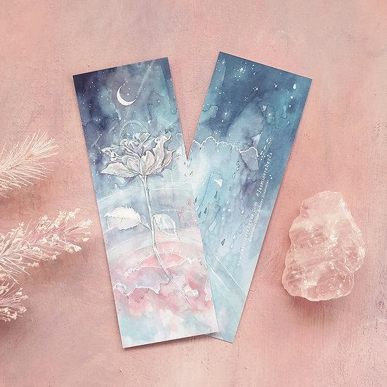 Set of 2 Celestial Rose Bookmarks