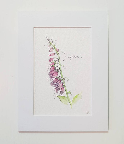 Original 6 x 8 Foxglove flower