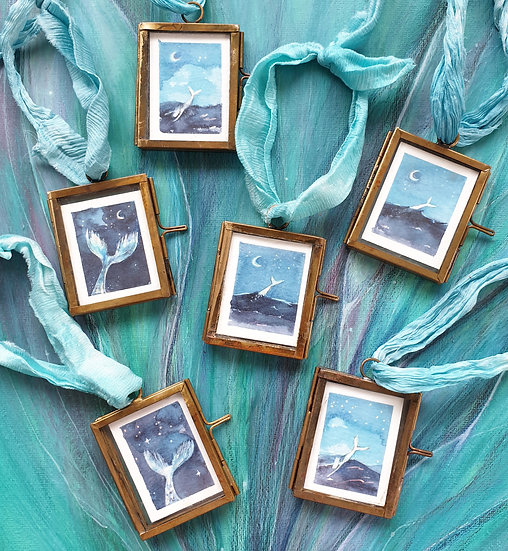 Mermaids ~ Mini paintings