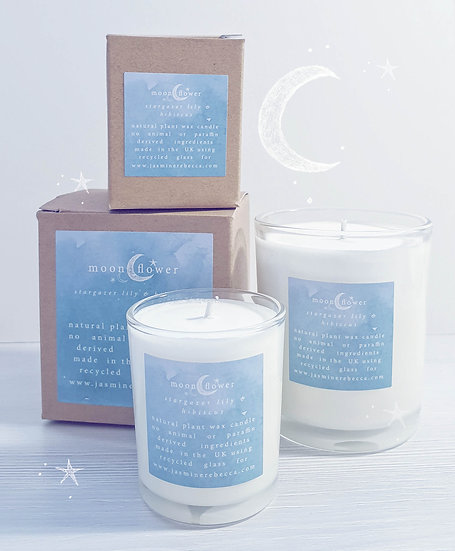 Moon Flower candle