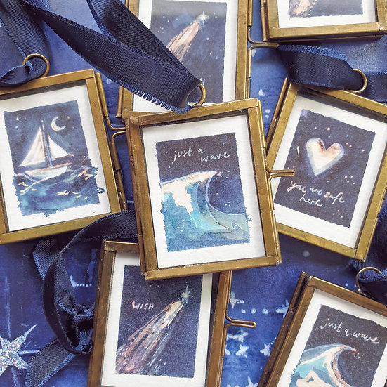 Wishes & Waves ~ Mini paintings