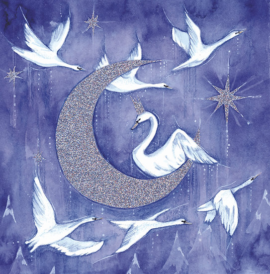 The Moon & the Swan Card