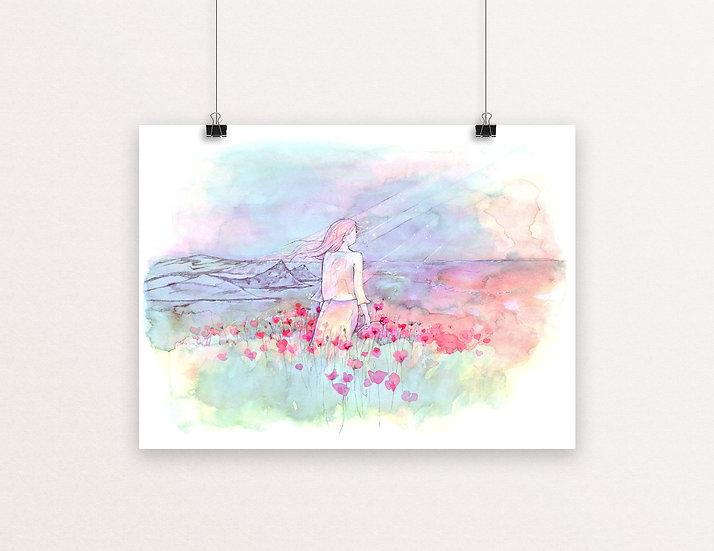 Polly Joke Poppies Print