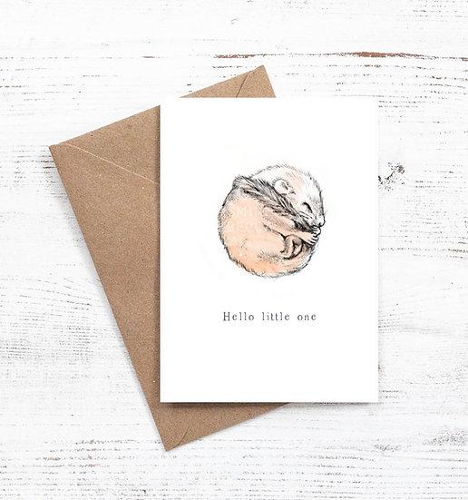 Hello Little one Dormouse card