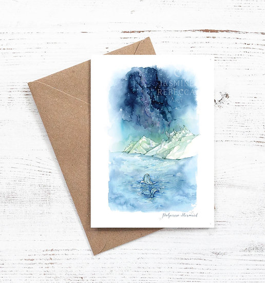 Polperro Mermaid card