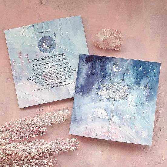 Celestial Rose Card