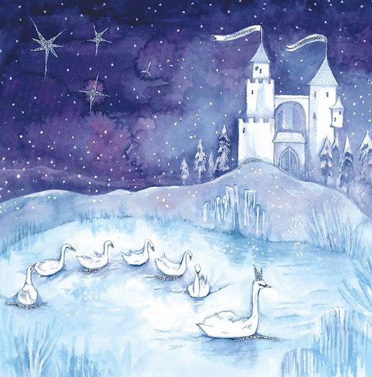 Swan Lake Watercolour