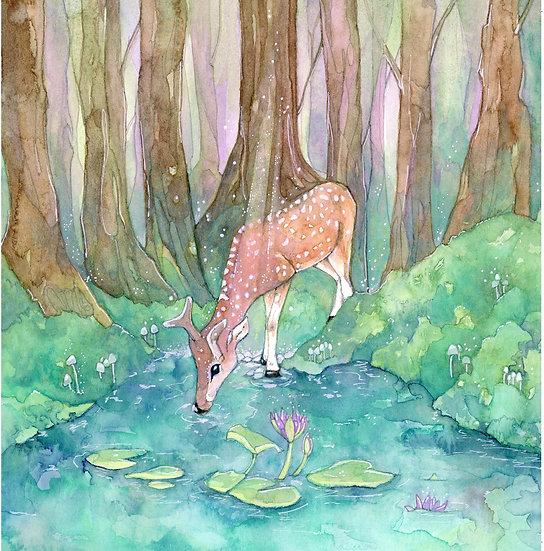Deer One Card