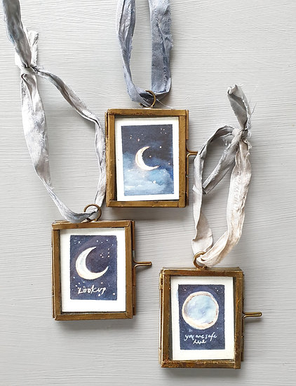 Moons ~ Mini paintings