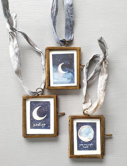 Moons ~ Mini paintings