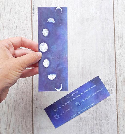 Set of 2 Moonphase Bookmarks
