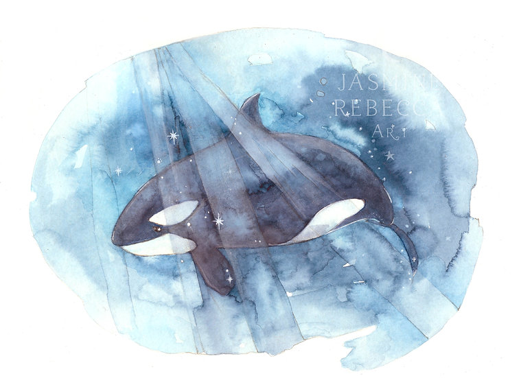 Be Free Orca print