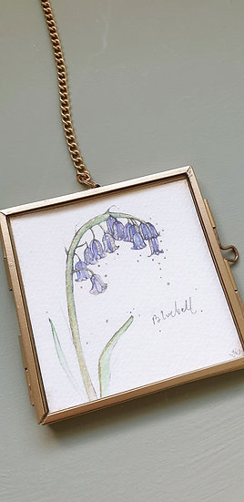 Bluebell Framed Watercolour