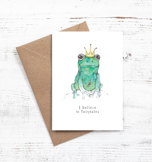 I believe in Fairytales - Frog prince card