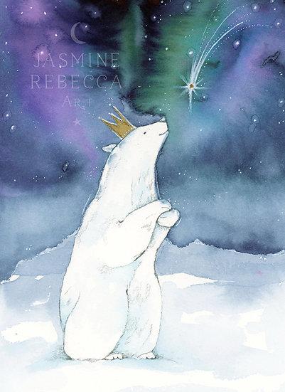 Wishing Polar Bear Print