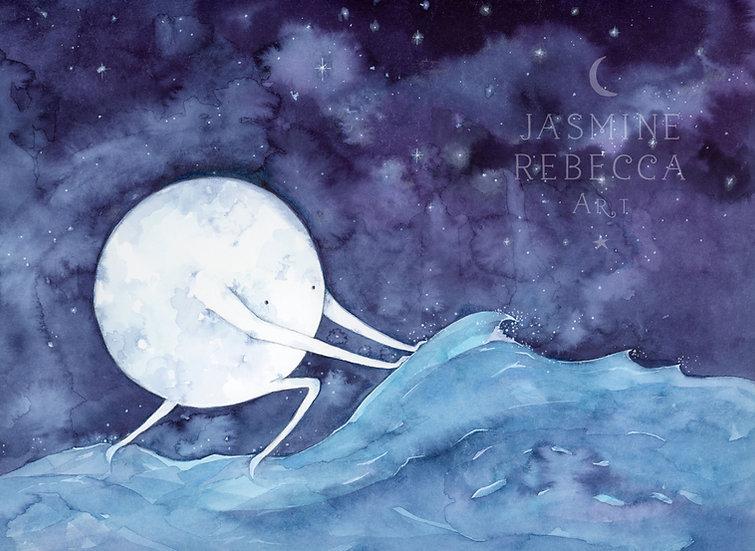 Moon Man Print