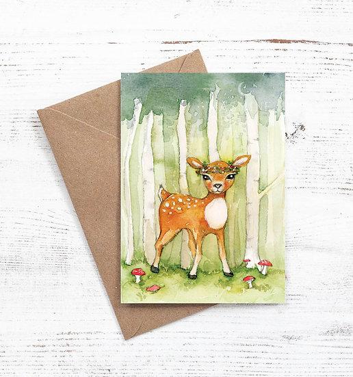 Woodland Fawn card
