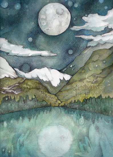 Bright Moon Print