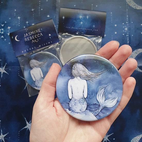 I must be a Mermaid Pocket Mirror
