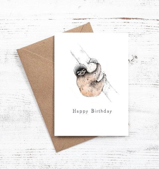 Happy Birthday Sloth card