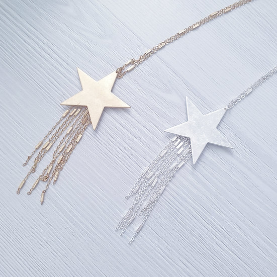 Shooting Star long necklace