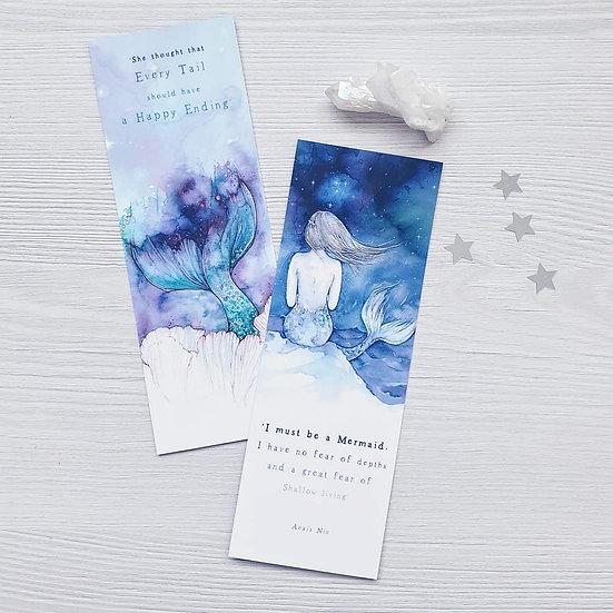 Set of 2 Mermaid Bookmarks