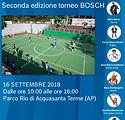 locandina seconda edizione torneo Bosch.