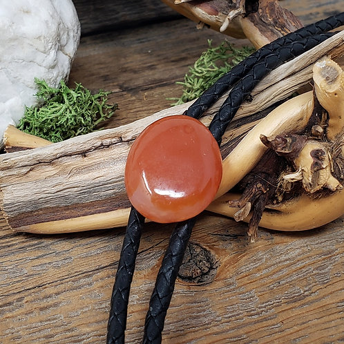 Carnelian Agate Bolo Tie for Him or Her