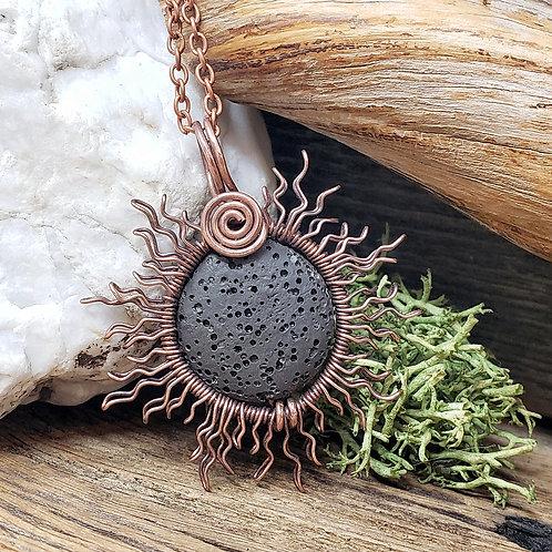 Copper Wire Sun, Eclipsed by a Black Lava Moon