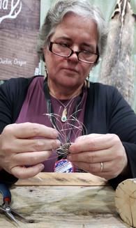 Pam working on  aTree of Life