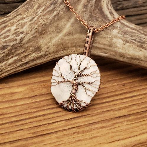Elk Antler Copper Tree of Life