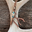 Thumbnail: Copper Deer Antler Necklace, Real Deer Antler Bead,Feather & Turquoise beads