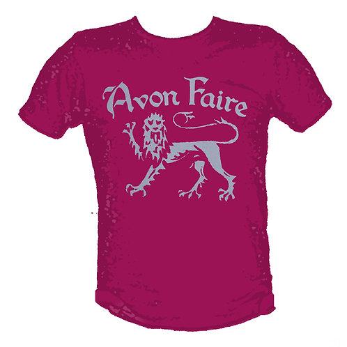 Avon Faire - Lion Logo T-Shirt (Raspberry)