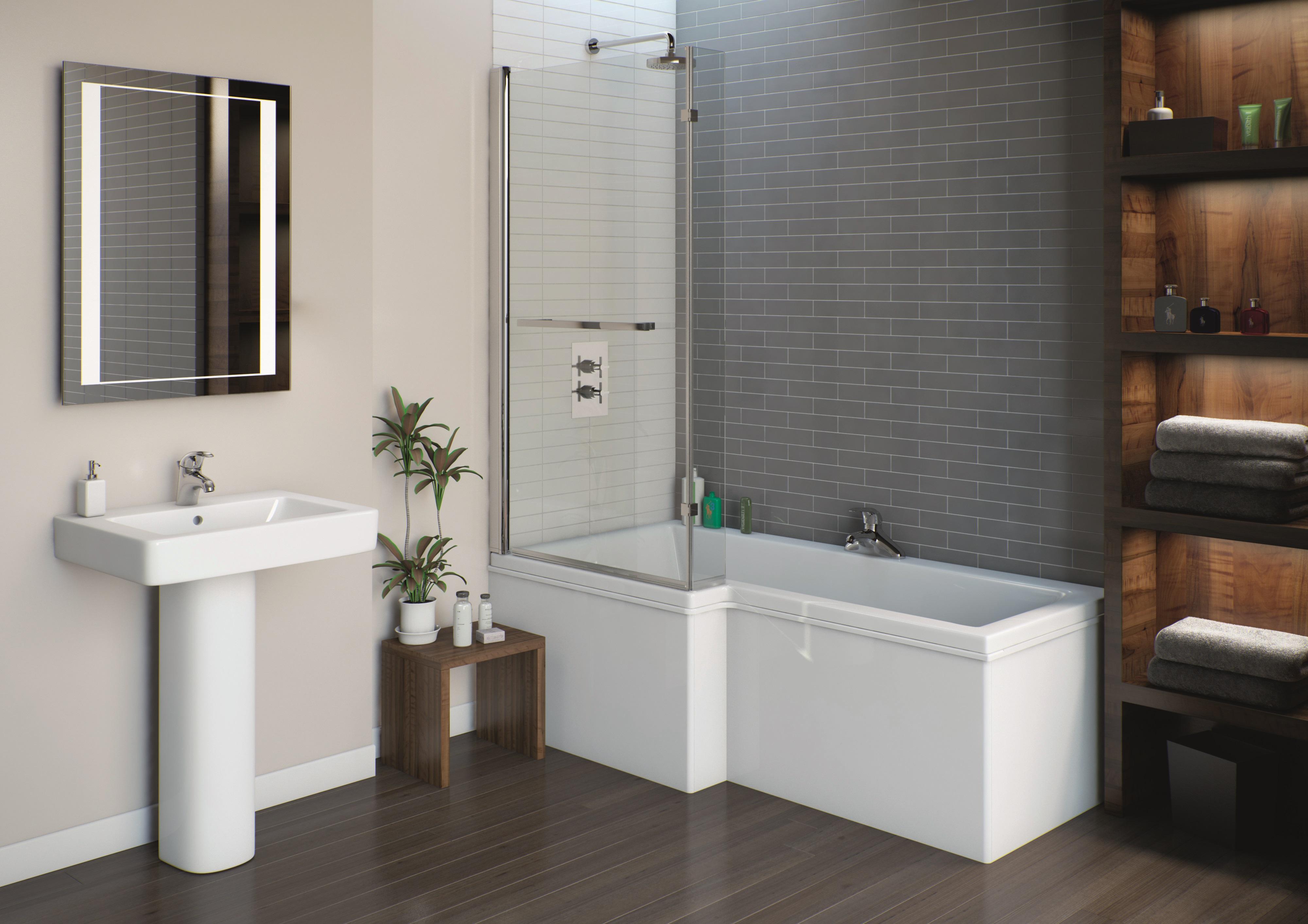 L Shaped ShowerBath