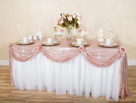 Gathered Lace Tablecloth