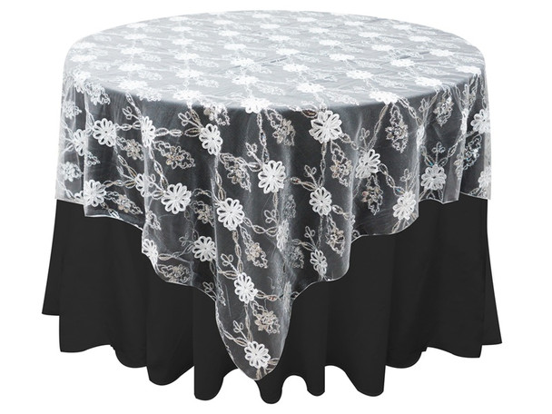 48 in Lace Table Scape