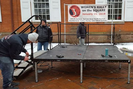 AAUW Womans Rally Stage.JPG