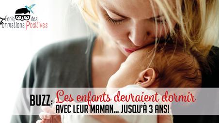 Une étude annonce que les enfants devraient dormir avec leur maman jusqu'à 3 ans