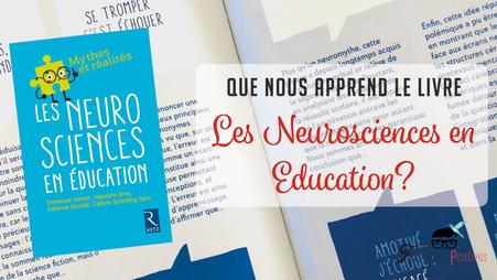 """J'ai lu pour vous """"Les neurosciences en education"""""""