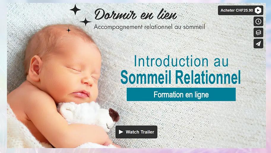 Introduction au sommeil relationnel pour bébé