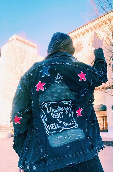 """""""whiskey bent"""" jacket"""
