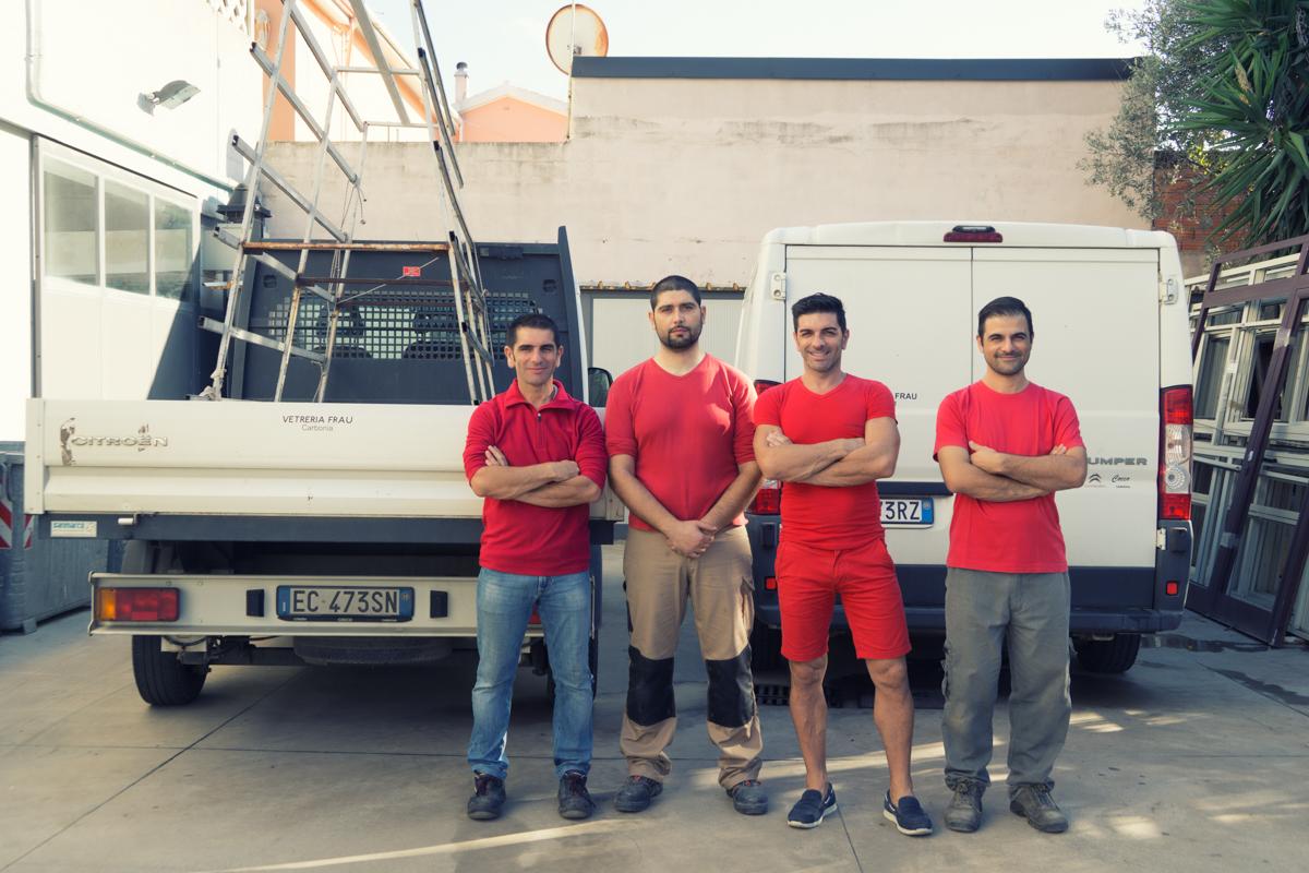 Vetreria Frau - team di lavoro