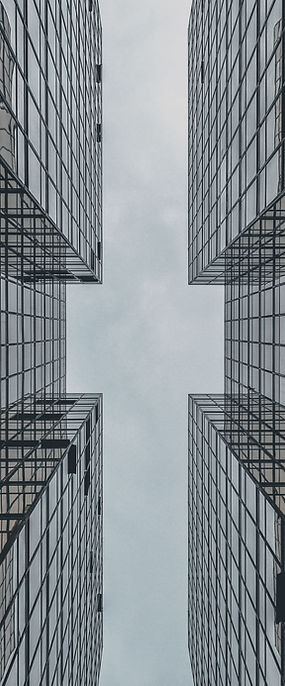 Edifício de vidro abstrato