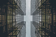 Abstrakt Glasgebäude