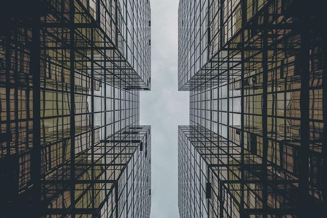 Estratto di vetro della costruzione