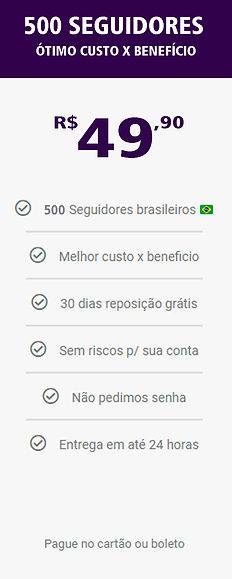 500 seguidores reais e brasileiros do in